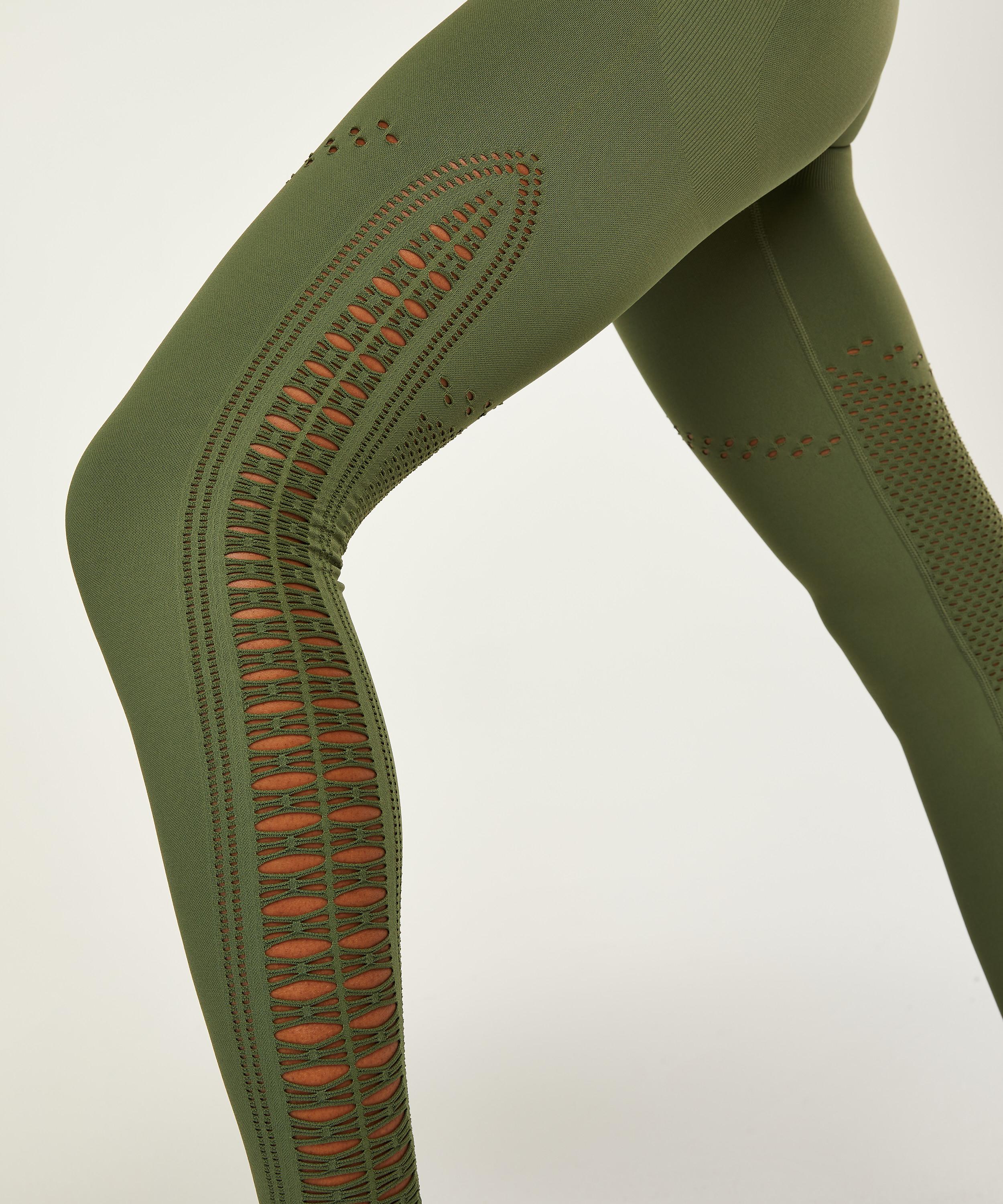 HKMX Karma sömlösa leggings med hög midja, grön, main