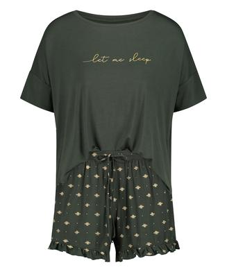 Kort pyjamasset, grön