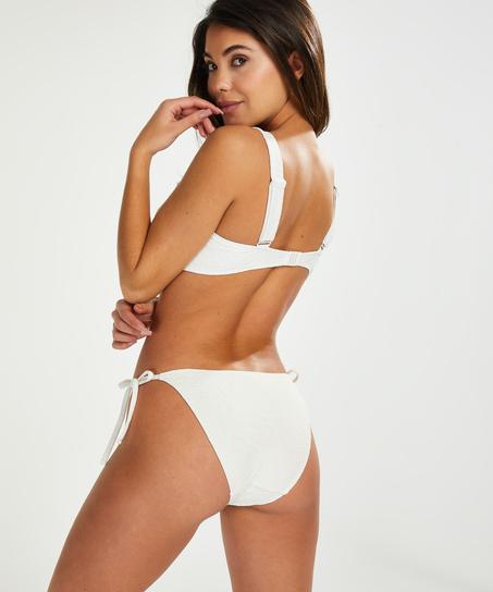 Libby formpressad bandeau-bikinitopp, Vit