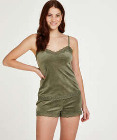 Sammet-spetslinne, grön
