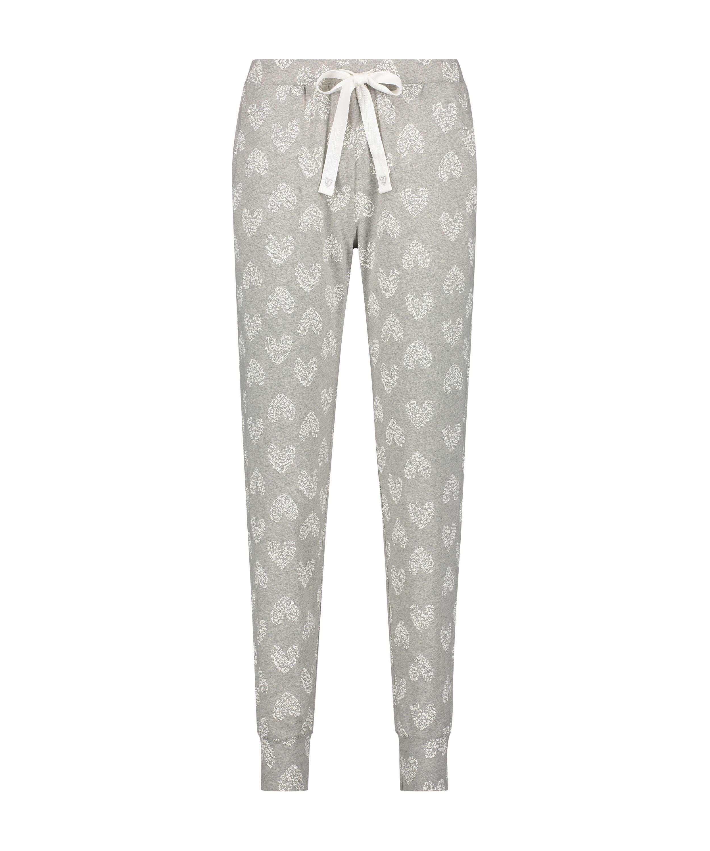 Jersey pyjamasbyxor, Grå, main