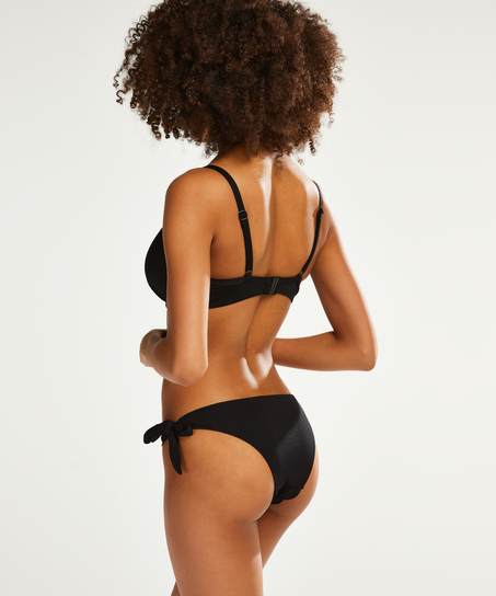 Scallop Goddess tanga-bikiniunderdel, Svart