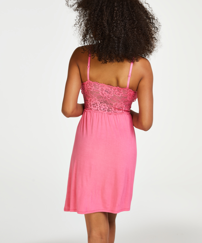 Nora Lace slipklänning, Rosa, main