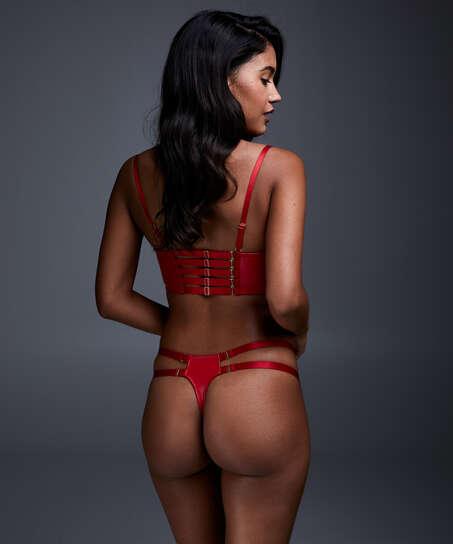 Formpressad push-up-bh i longline-modell med bygel Kennedy, röd