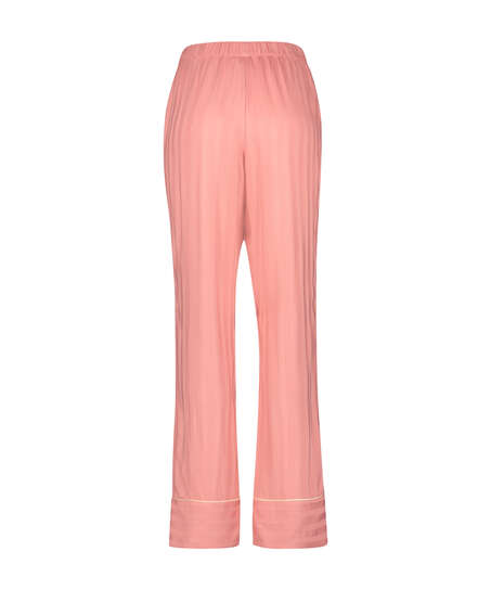 Tall Stickade pyjamasbyxor, Rosa