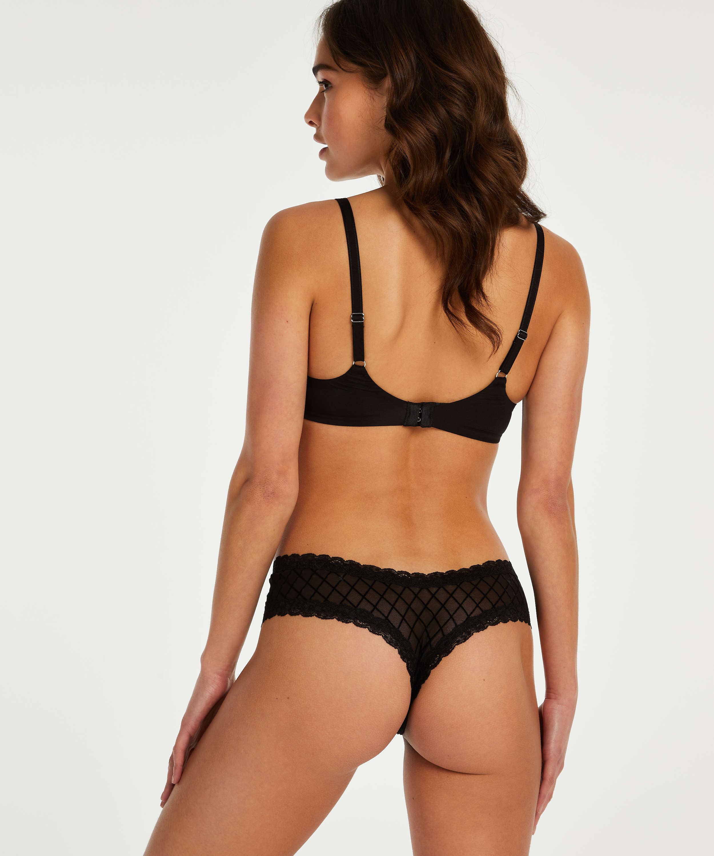 Brazilian-trosa V-shape mesh, Svart, main
