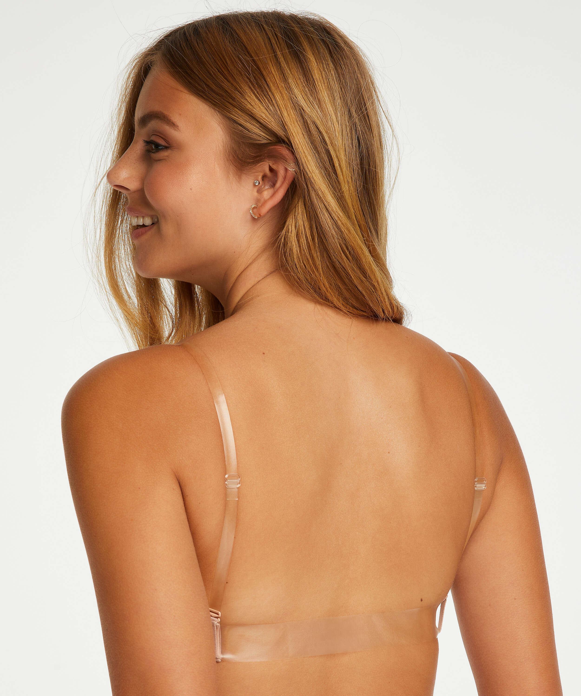 Formpressad push-up-bh med bygel Transparent Back, Beige, main