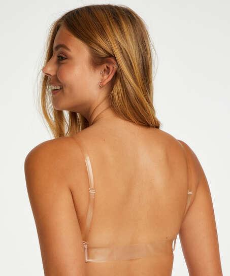 Formpressad push-up-bh med bygel Transparent Back, Beige