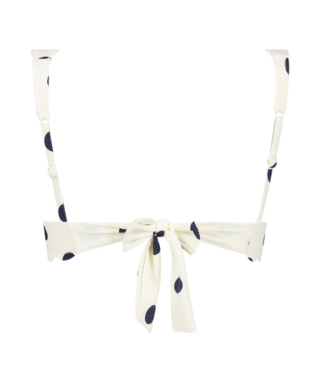 Scallop triangel-bikiniöverdel, Vit