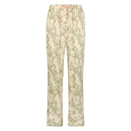 Pyjamasbyxor i vävt tyg, Beige