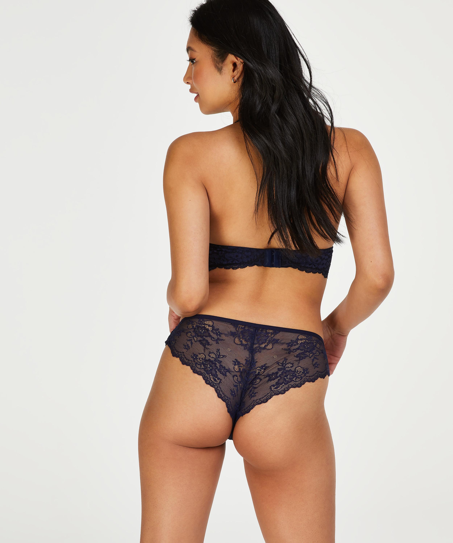 Brazilian-trosa Invisible Lace Back, blå, main