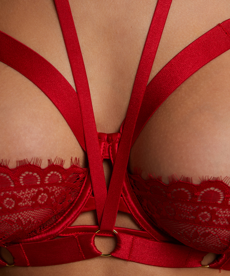 Icke-formpressad bygel-bh Jacky, röd