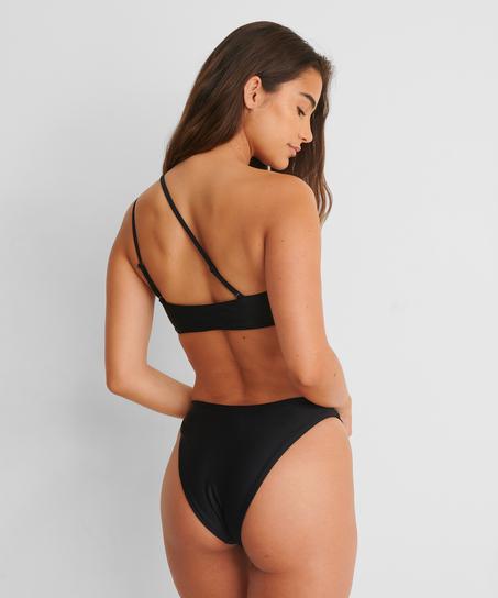 Högt skuren Rio-bikiniunderdel HKM x NA-KD, Svart