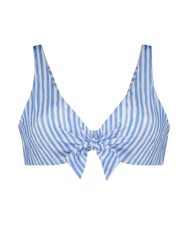 Icke formpressad bikini-överdel med bygel Julia, blå, main