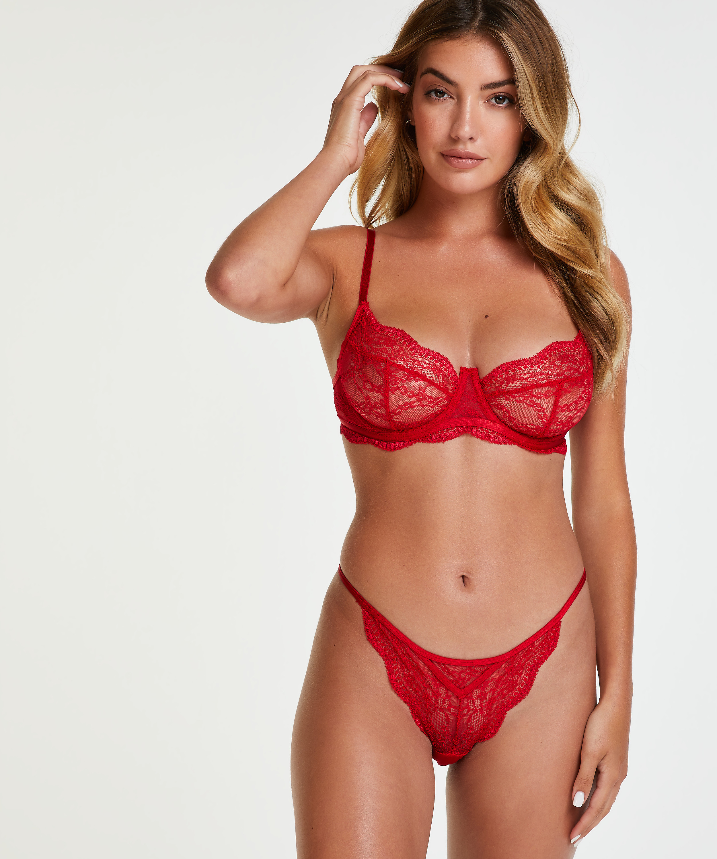 Isabelle stringtrosa, röd, main