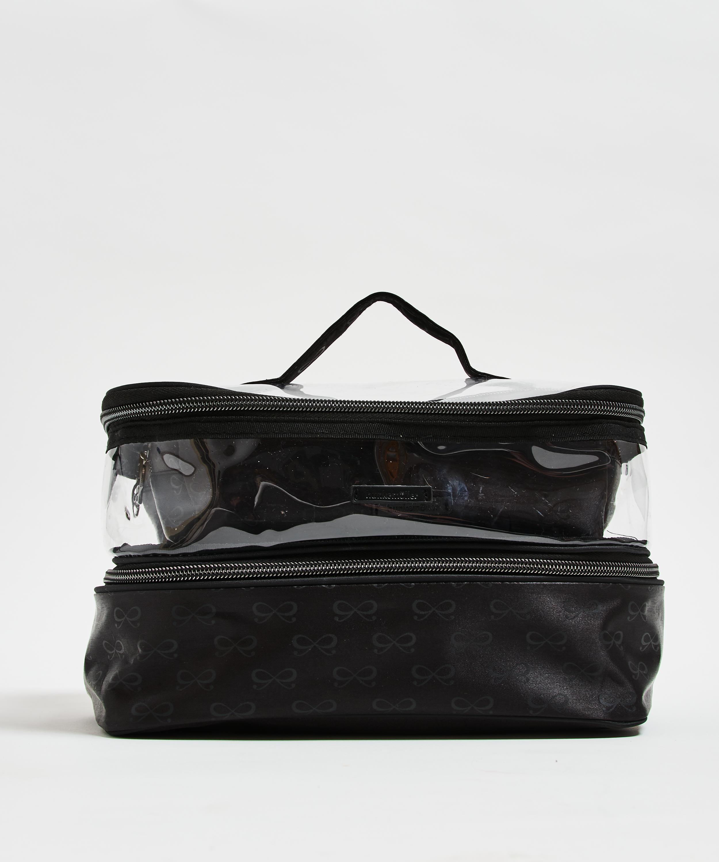3-pack makeupväska, Svart, main