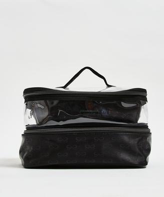 3-pack makeupväska, Svart