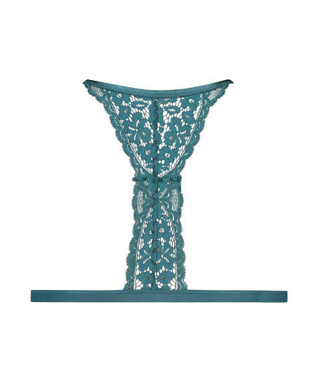 Vadderad triangel-bralette Rose, blå