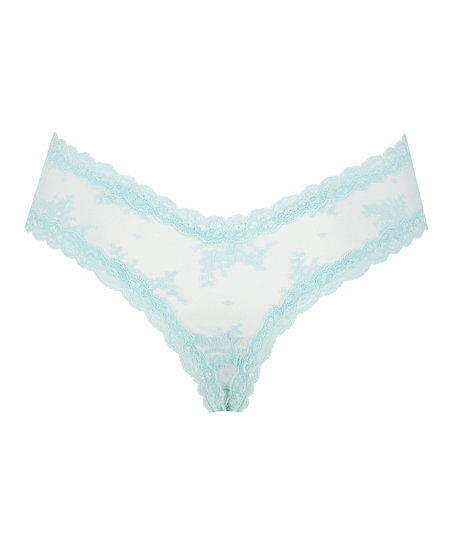 Brazilian-trosa V-shape mesh, blå