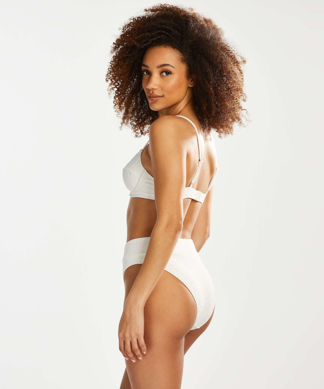 Libby icke-formpressad bikiniöverdel med bygel, Vit, main