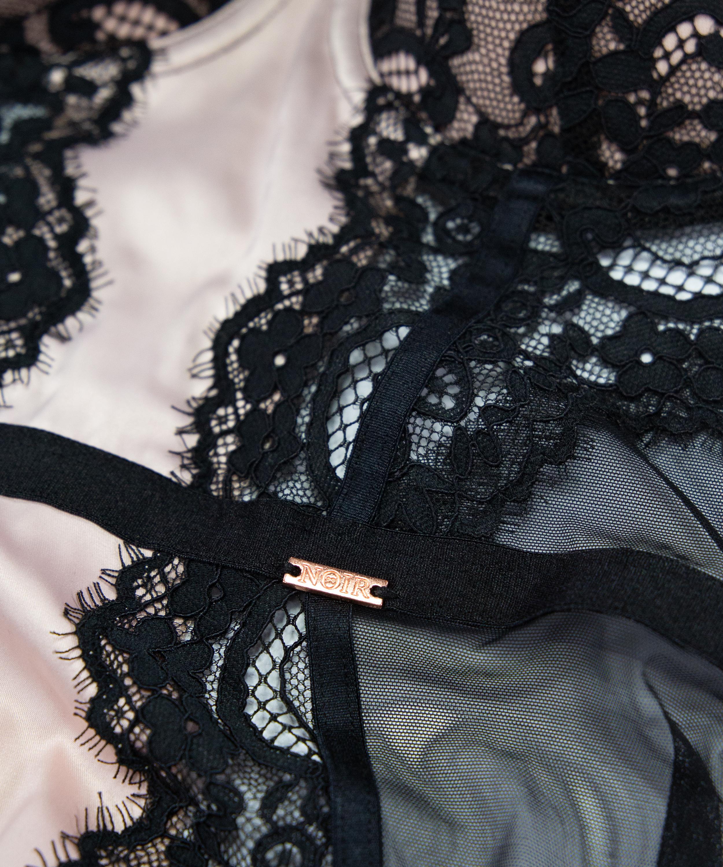 Amelia vadderad pådragbar klänning med bygel , Svart, main
