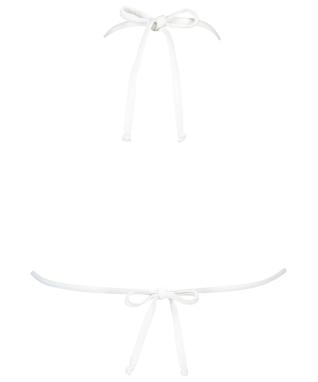 Maldives triangel-bikiniöverdel, Vit, main