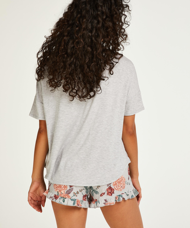 Kort pyjamasset, Grå, main