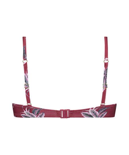 Formpressad bikinitopp med bygel Tropic Glam, röd