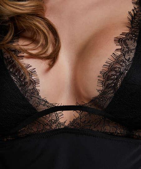Satin Holly underklänning, Svart