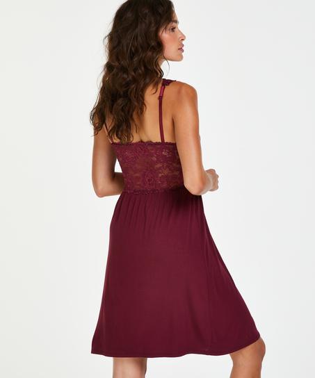 Nora Lace slipklänning, röd