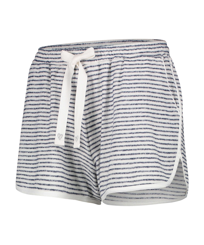 Brushed Stripe korta pyjamasbyxor, Grå, main