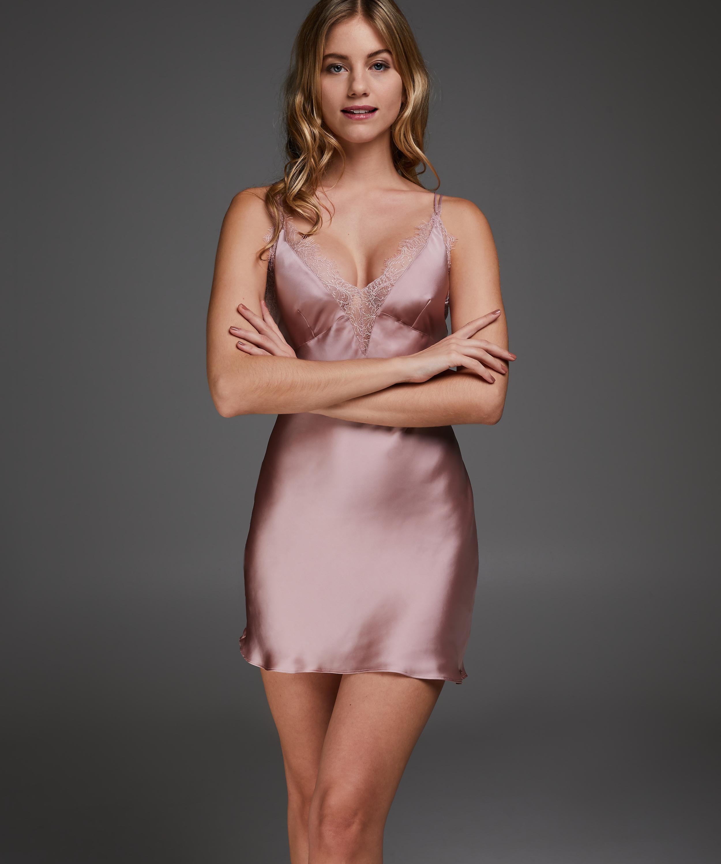Satin Lily underklänning, Rosa, main