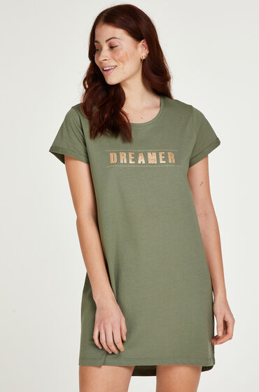 Hunkemöller Dreamer nattskjorta grön