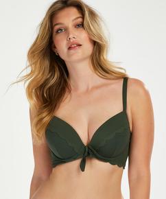 Scallop Glam formpressad bikinitopp med bygel, grön