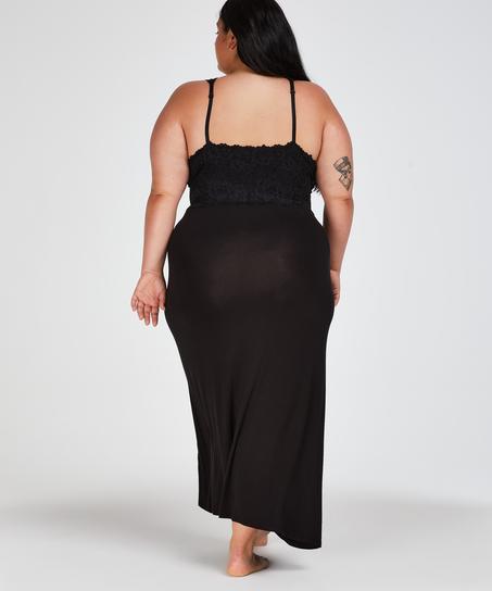 Nora Lace slipklänning, Svart