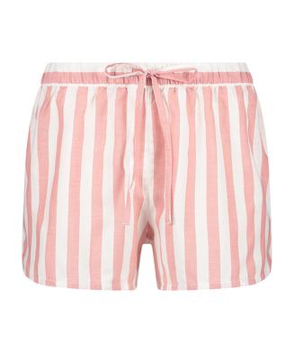 Randiga shorts i chambray, Rosa