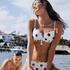 Scallop prickig formpressad bikiniöverdel med bygel, Vit