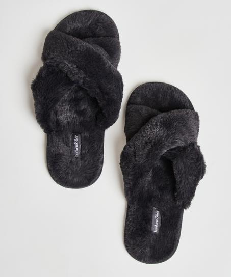 Cross Straps Indoor Sandal, Grå