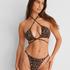 Bikinitopp med vadderad triangel med djurmotiv HKM x NA-KD, Brun