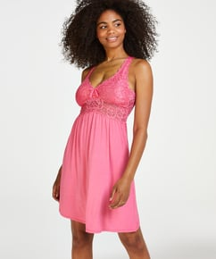 Nora Lace slipklänning, Rosa