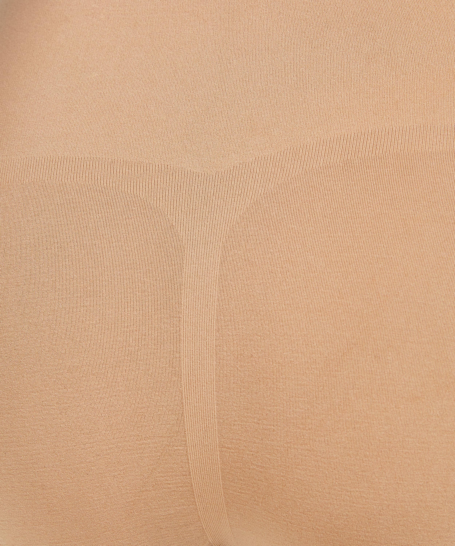 Uppstramande kort kjol med hög midja - Level 2, Beige, main