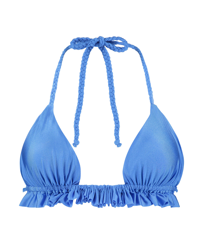 Suze triangel-bikiniöverdel, blå, main