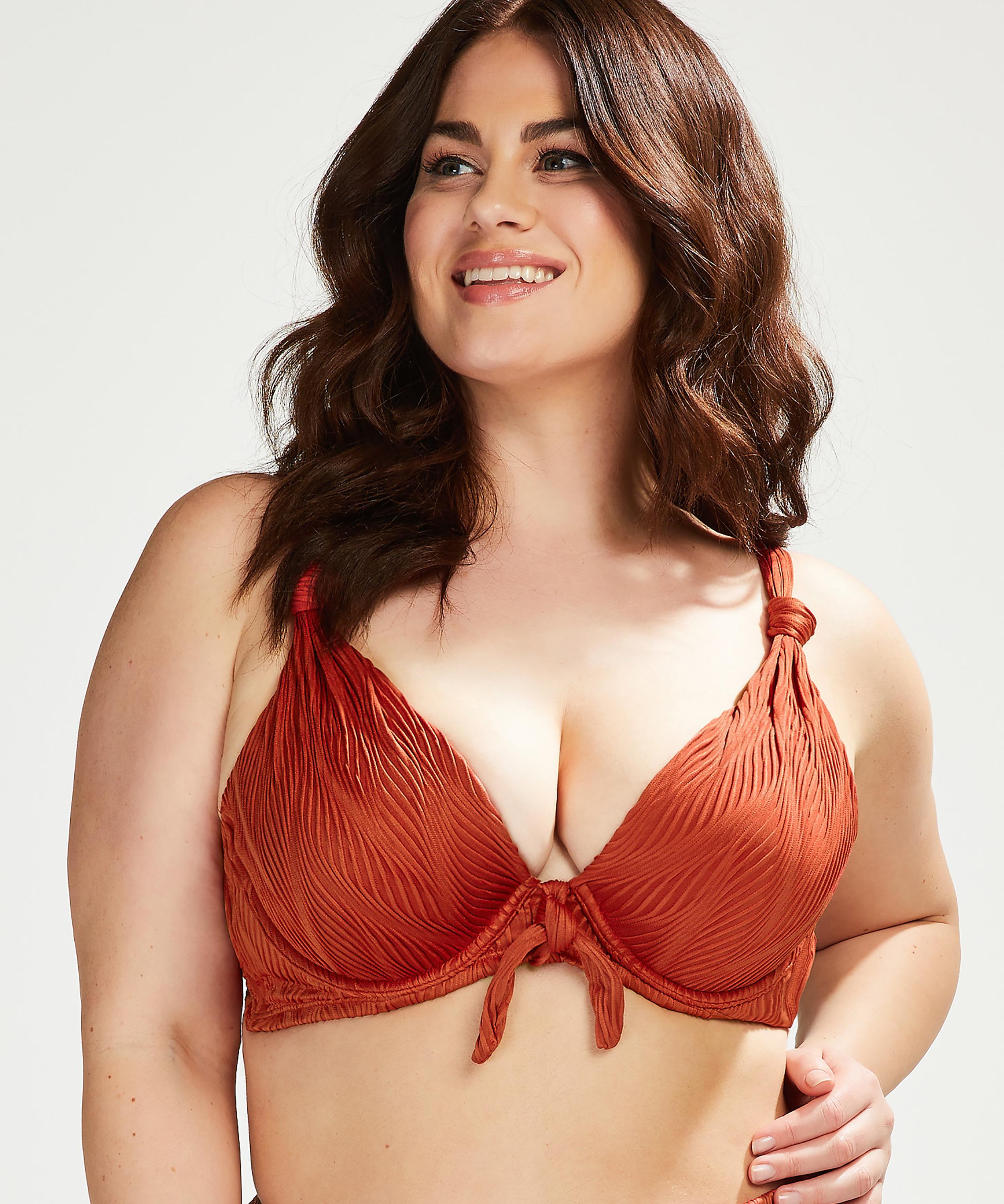 Galibi vadderas bikinitopp med bygel I AM Danielle Storlek E +, Orange, main