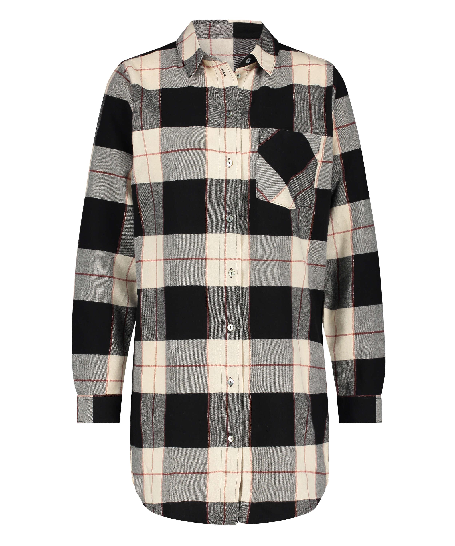 Långärmad nattskjorta, Svart, main