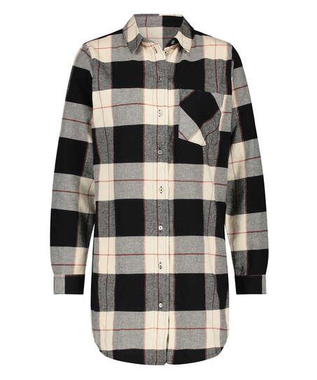 Långärmad nattskjorta, Svart