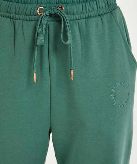 Boyfriend sweat-joggingbyxor, grön