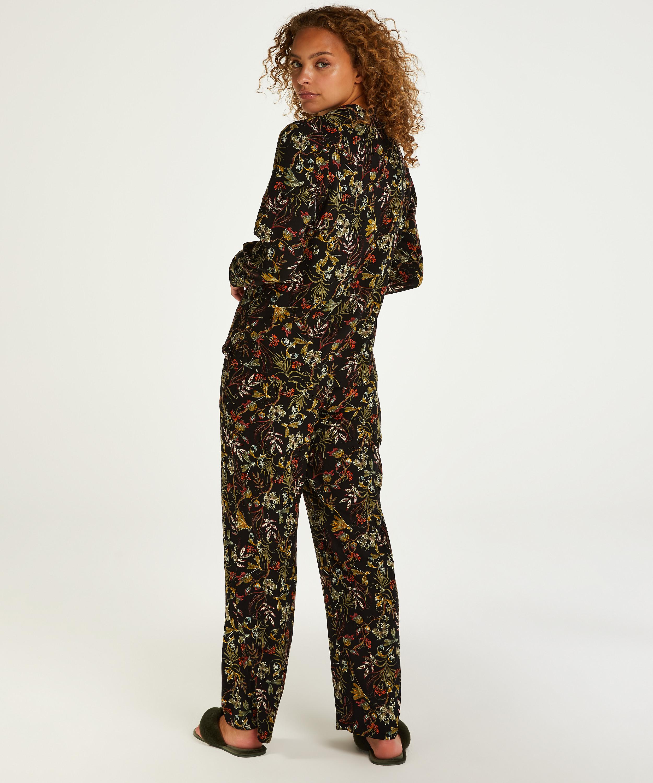 Dragonfly  långärmad pyjamastopp, Svart, main