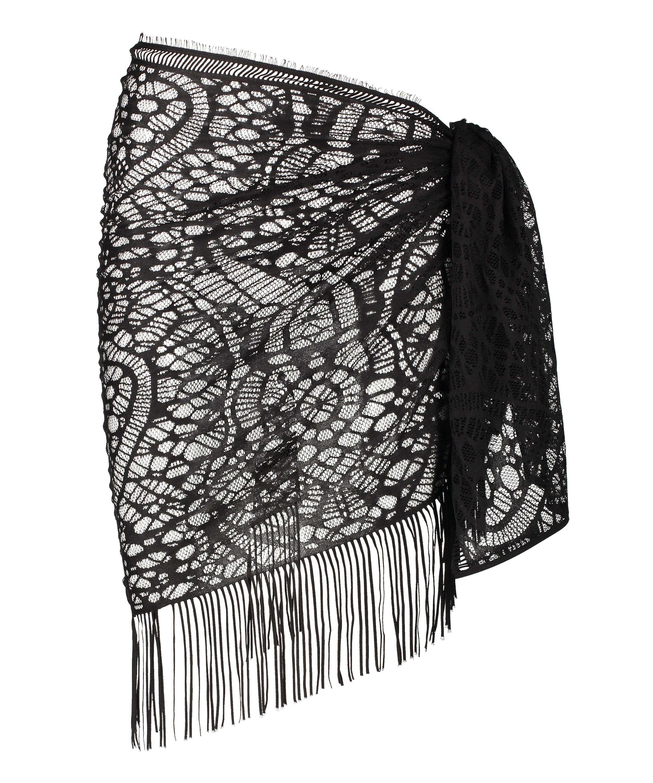 Strandklänning Crochet, Svart, main
