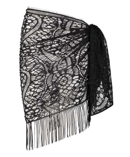Strandklänning Crochet, Svart