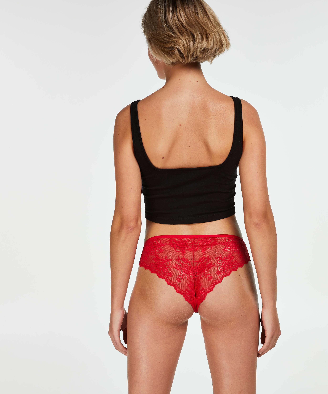 Brazilian-trosa Invisible Lace Back, röd, main